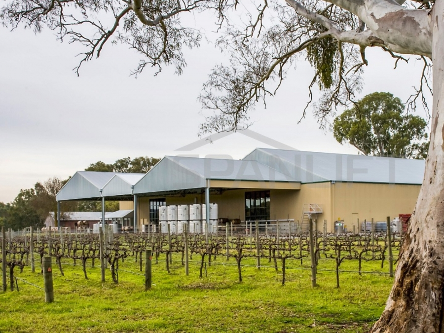 Barrel Store Winery 3 Spanlift SVnjYc - Winery Building Design