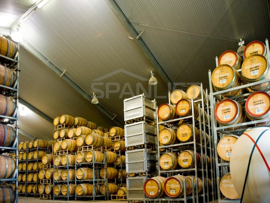 Barrel Store Winery 5 Spanlift gj0Gzo - Winery Building Design