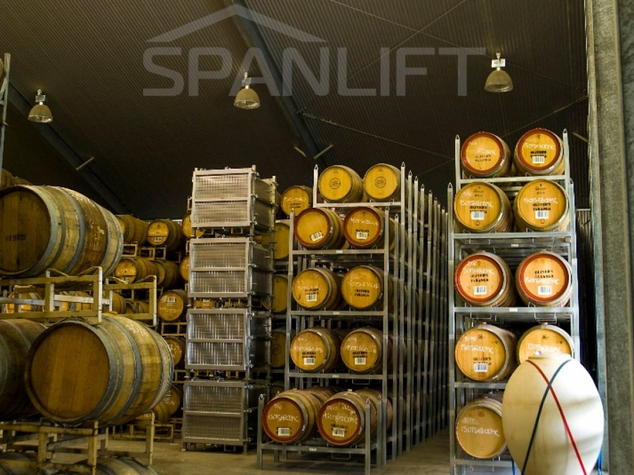 Barrel Store Winery 7 Spanlift pBVug0 - Winery Building Design
