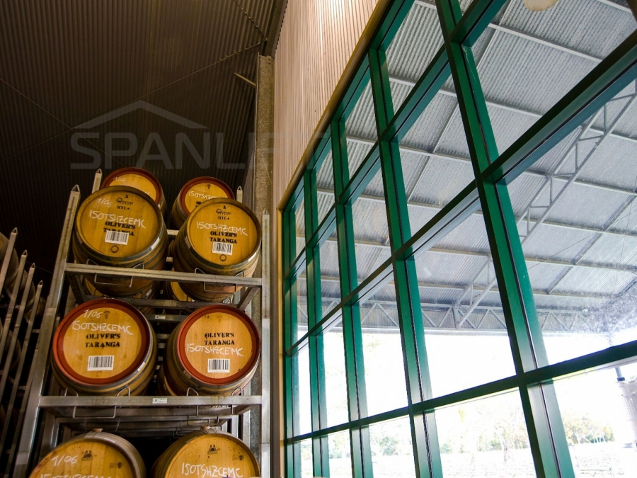 Barrel Store Winery 8 Spanlift rA8r1c - Winery Building Design
