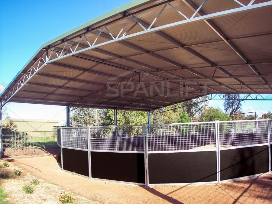 Round Yard Cover 4 Spanlift LQ62y1 - Round Yard Cover