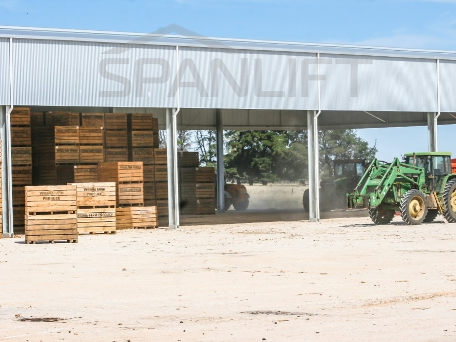 Airing Shed 20 Spanlift PyJon9 - Produce Sheds