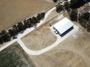 DJI 0114 300x225 - 3 things to consider when building a new machinery shed